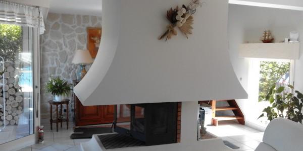Mise en place d'un insert dans une cheminée à foyer ouvert